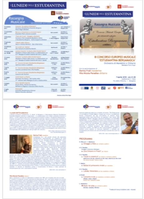 Concerto con estudiantina Bergamasca e VitoNicola Paradiso