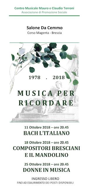 MUSICA PER RICORDARE 1978 – 2018